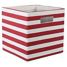 Design Imports Striped 11-Inch Storage Cube
