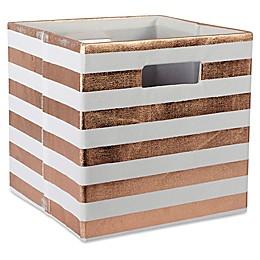 Design Imports Striped 11-Inch Storage Cube