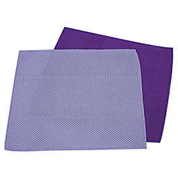 Hope's® 2-Pack Perfect All-Purpose Microfiber Mesh Cleaning Cloths in Puple