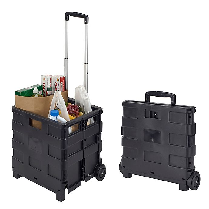 Alternate image 1 for Tote & Go Collapsible Utility Cart in Black