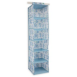 Laura Ashley Kids 6-Shelf Hanging Closet Organizer in Cheeky Monkey
