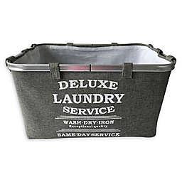 Baum-Essex Fabric Laundry Basket with Stencil Print