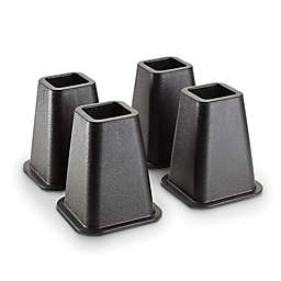 Simplify Bed Risers in Black (Set of 4)<br />