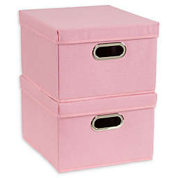 Household Essentials® Collapsible Storage Boxes with Lids (Set of 2)