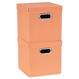 Household Essentials® Collapsible Linen Storage Cube with Lid (Set of 2)