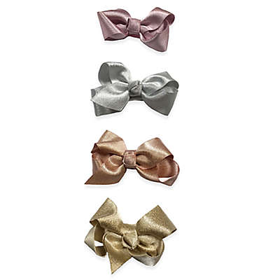 Curls & Pearls 4-Pack Shimmer Bow Clip