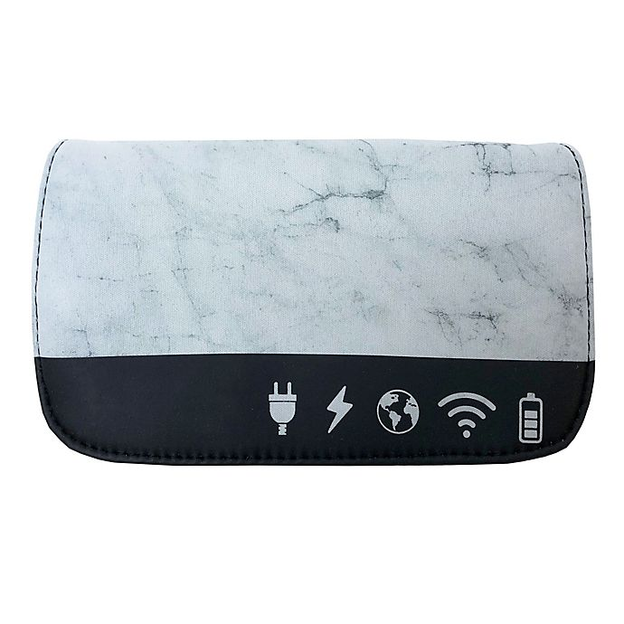 Alternate image 1 for MYTAGALONGS® Icons Tech Organizing Pouch in Marble