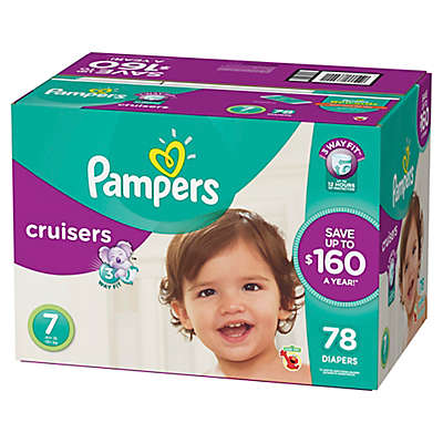 Pampers® Cruisers™ 78-Count Size 7 Economy Pack Plus Disposable Diapers