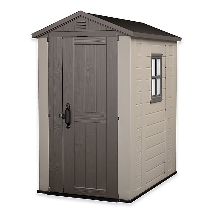 Alternate image 1 for Keter® Factor 4-Foot x 6-Foot Outdoor Storage Shed in Beige