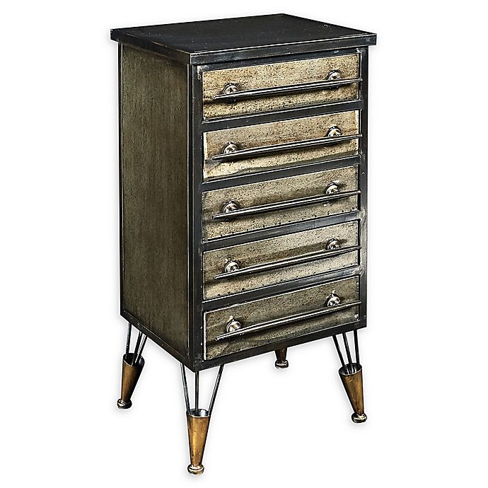 Alternate image 1 for Linon Home Carlson 5-Drawer Chest in Grey