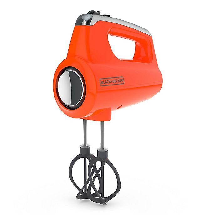 Alternate image 1 for Black & Decker™ Helix Performance Premium Hand Mixer in Orange