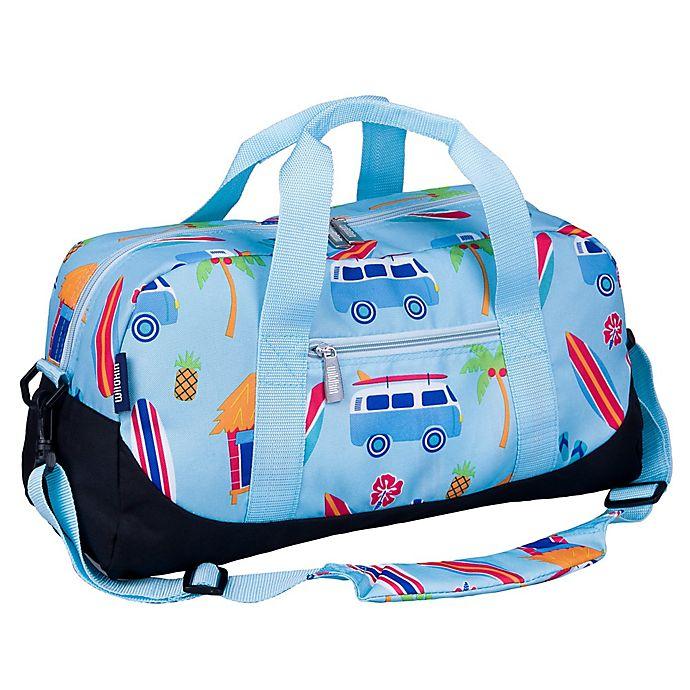 Wildkin Surf Shack Overnighter Duffel Bag In Blue Baby