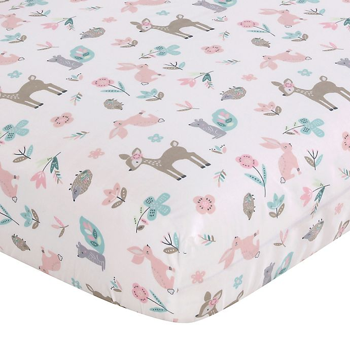 Alternate image 1 for Levtex Baby® Everly Fitted Crib Sheet in Pink/Blue