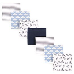 Hudson Baby® 7-Pack Paper Airplanes Flannel Receiving Blankets
