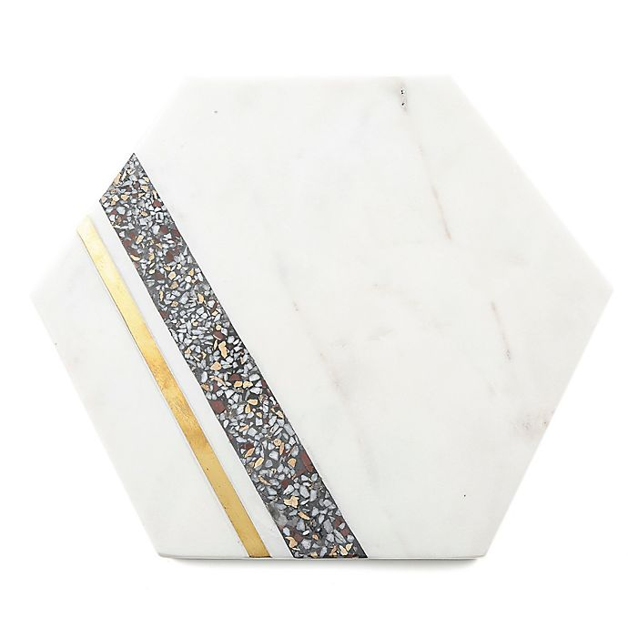 Alternate image 1 for Thirstystone® Terrazzo Hexagon Serving Board