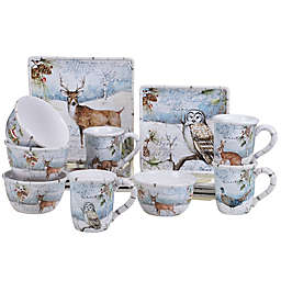 Certified International Winter's Lodge© by Susan Winget 16-Piece Dinnerware Set