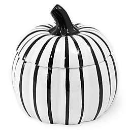 Boston International Pumpkin Covered Candy Bowl in Black/White