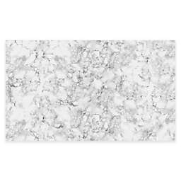 FlorArt Classic Marble Kitchen Mat in White
