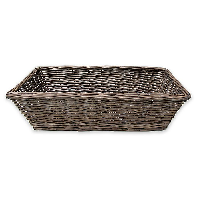 Alternate image 1 for Bee & Willow™ Home Milbrook Wicker Bread Basket in Grey