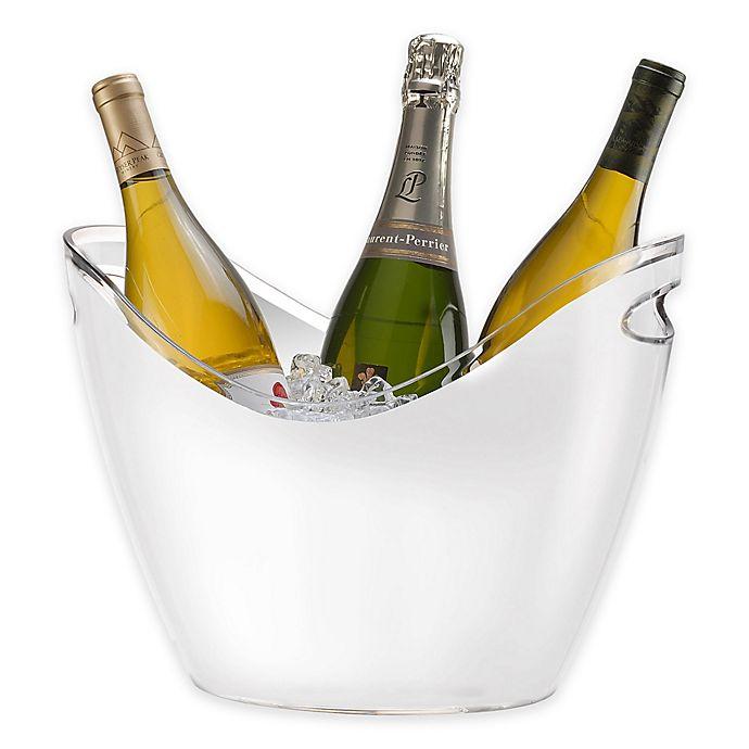 Alternate image 1 for Prodyne Acrylic Vino Gondola 4-Bottle Bucket in White