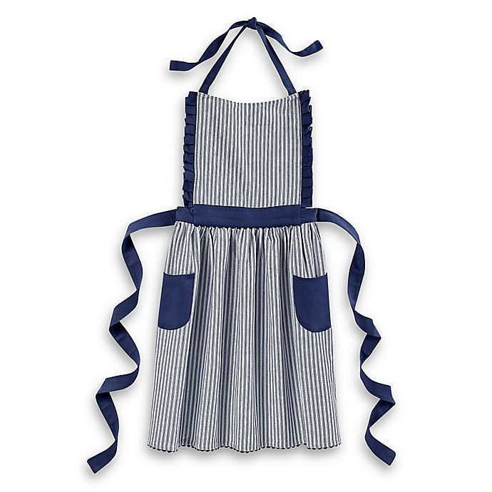 Alternate image 1 for Bee & Willow™ Home Striped Apron in Blue/White