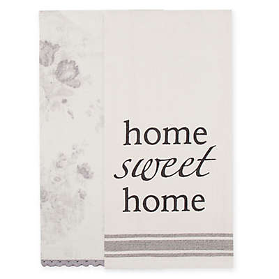 Bee & Willow™ Home 2-Pack Home Kitchen Towels in Ivory/Grey