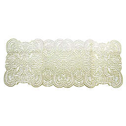 Paisley 36-Inch Vinyl Table Runner in Prosecco