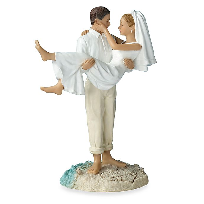 Alternate image 1 for Lillian Rose™ Beach Wedding Caucasian Couple Figurine