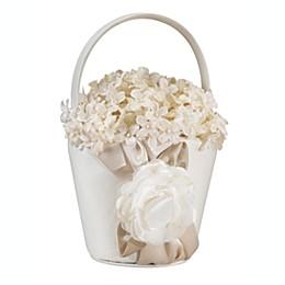 Lillian Rose™ Taupe Rose Flower Basket