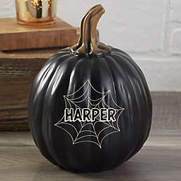 Spiderwebs Resin Personalized Pumpkin