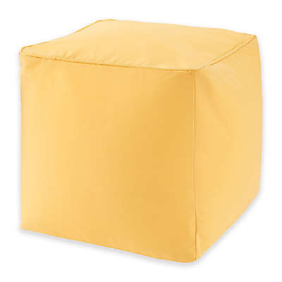 Madison Park Pacifica Indoor/Outdoor Pouf Pillow in Yellow