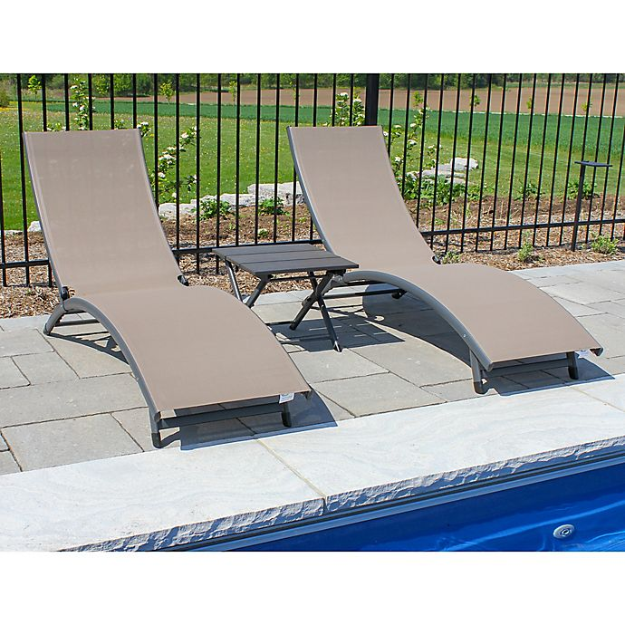Alternate image 1 for Vivere Coral Springs 3-Piece Lounger Set in Brown