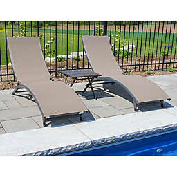 Vivere Coral Springs 3-Piece Lounger Set in Brown