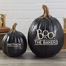 BOO! Resin Personalized Pumpkin