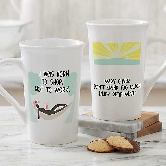 Alternate image 1 for Personalized I'm Retired Latte Mug