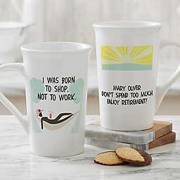 Personalized I'm Retired Latte Mug