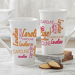 Personalized Signature Style Latte Mug