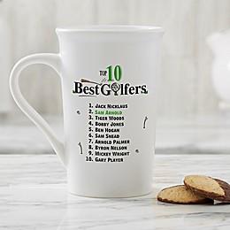 Personalized Top 10 Golfers Latte Mug