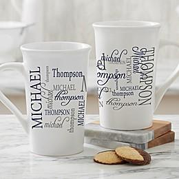 Personalized Signature Style For Him Latte Mug