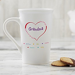 Personalized All Our Hearts Latte Mug