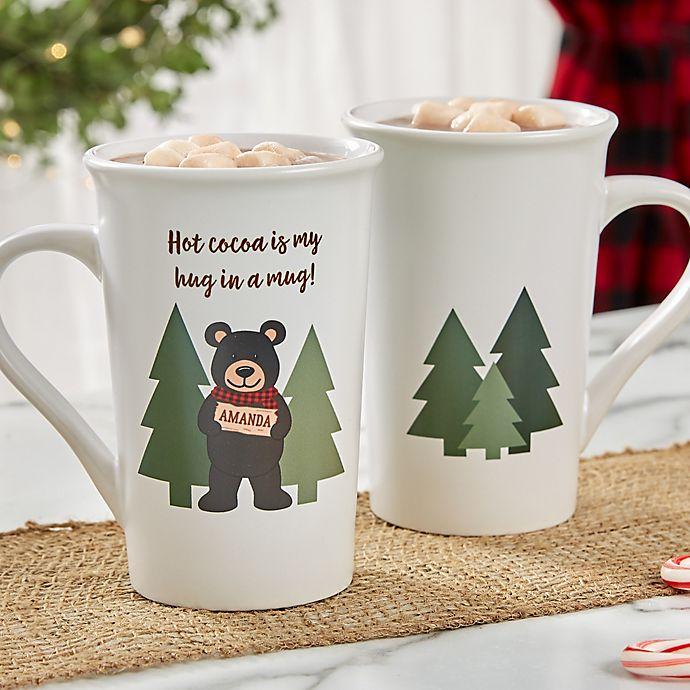 Alternate image 1 for Personalized Holiday Bear Family Latte Mug