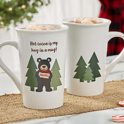 Personalized Holiday Bear Family Latte Mug