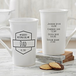 Personalized My Greatest Blessings Call Me Latte Mug For Him