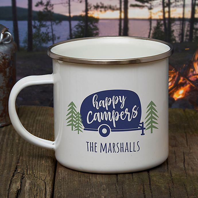Personalized Happy Camper Camping Mug Bed Bath Amp Beyond