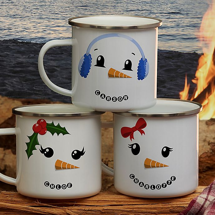 Alternate image 1 for Personalized Snowman Character Camping Mug