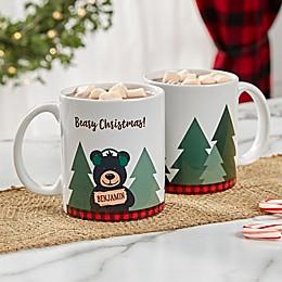 Personalized Holiday Bear Family Coffee Mug