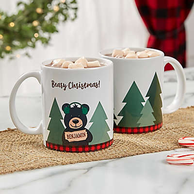 Personalized Holiday Bear Family Coffee Mug
