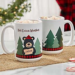 Personalized Holiday Bear Family Coffee Mug 15 oz