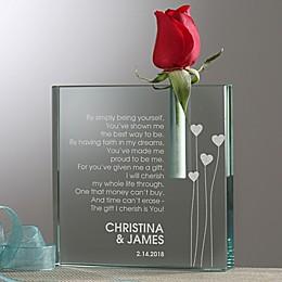 Loving Heart Personalized Bud Vase