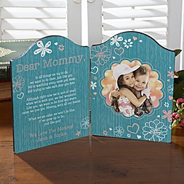Personalized Dear Mommy Photo Plaque